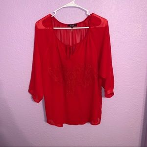 Yest red blouse size 8